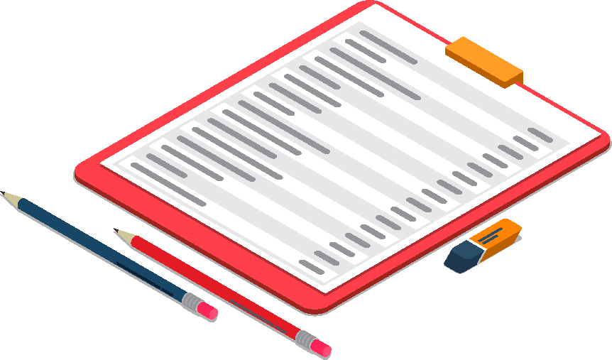 資料作成のイラスト